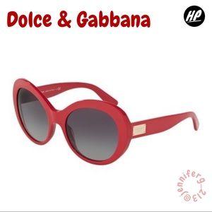DOLCE & GABBANA 57mm Gradient Oval Sunglasses NWT